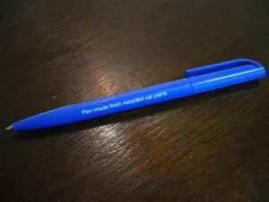 Pen-from-recycled-car